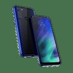 Smartphone-Motorola-one-fusion-64gb-Imagem-Frontal-Curvada-azul-safira