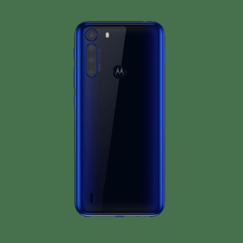 Smartphone-Motorola-one-fusion-64gb-Imagem-traseira-azul-safira