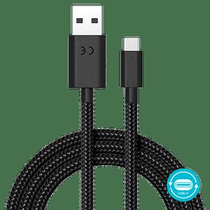 Cabo de dados de carga Motorola USB-A P/ USB-C 1.5 metros acabamento cordão