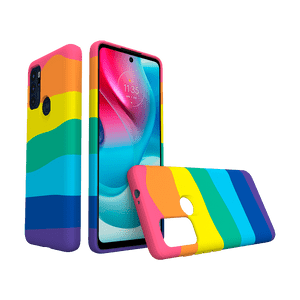 Capa Moto G60s - Rainbow Y-Cover Soft